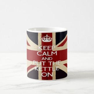 Keep Calm and Put The Kettle On Basic White Mug