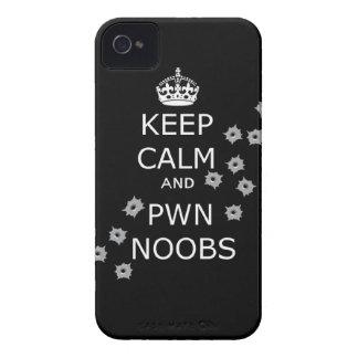 keep calm and pwn noobs phone case