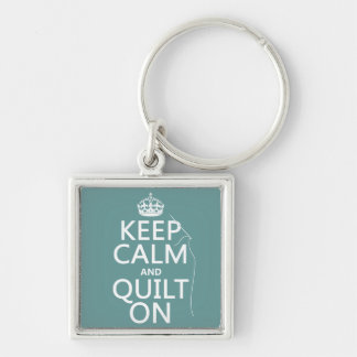 Keep Calm and Quilt On - available in all colors Keychain