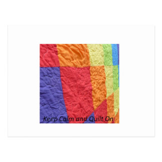 Keep Calm and Quilt On Postcard