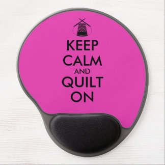 Keep Calm and Quilt On Sewing Thimble Needles Gel Mouse Pad