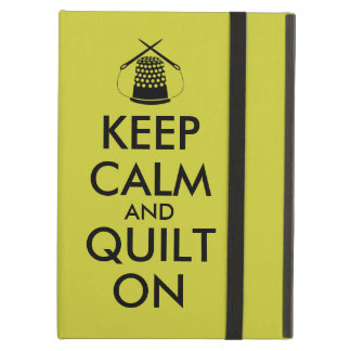 Keep Calm and Quilt On Sewing Thimble Needles iPad Air Cover