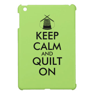 Keep Calm and Quilt On Sewing Thimble Needles Case For The iPad Mini