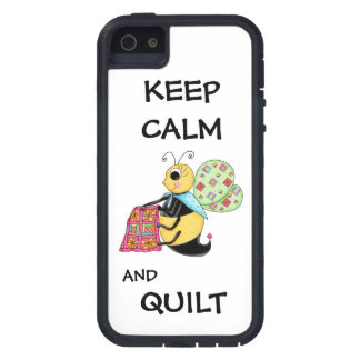 Keep Calm and Quilt Whimsy Honey Bee Art iPhone 5 Case