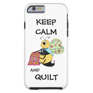 Keep Calm and Quilt Whimsy Honey Bee Art iPhone 6 Case
