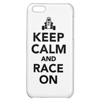 Keep calm and race on case for iPhone 5C