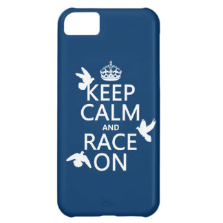 Keep Calm and Race On (Pigeons) (all colors) iPhone 5C Case