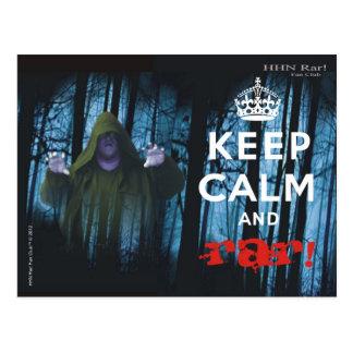 Keep Calm and Rar! Postcard