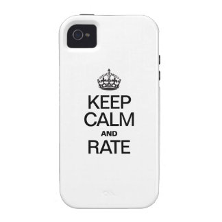KEEP CALM AND RATE iPhone 4/4S COVER