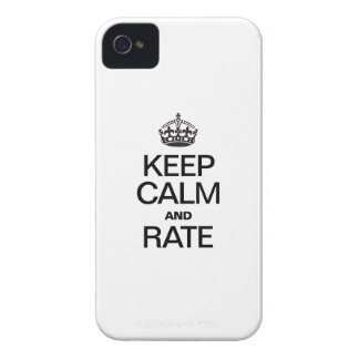 KEEP CALM AND RATE iPhone 4 Case-Mate CASE