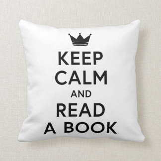 Keep Calm and Read a Book Bookish Pillow