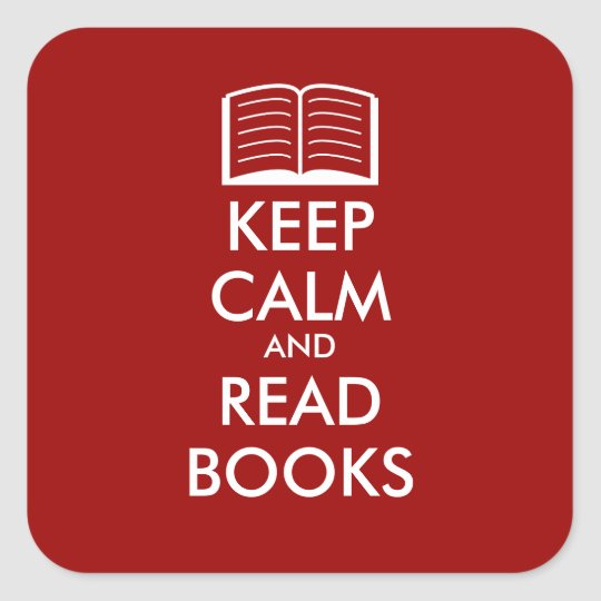 Keep calm and read books sticker | Customisable