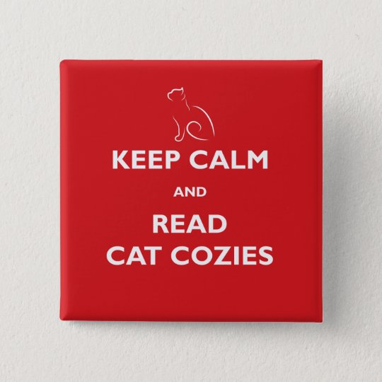Keep Calm and Read Cat Cosies Square Button
