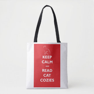 Keep Calm and Read Cat Cozies Tote