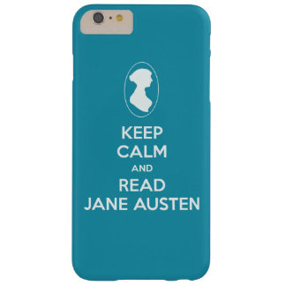 Keep Calm and Read Jane Austen cameo silhouette Barely There iPhone 6 Plus Case