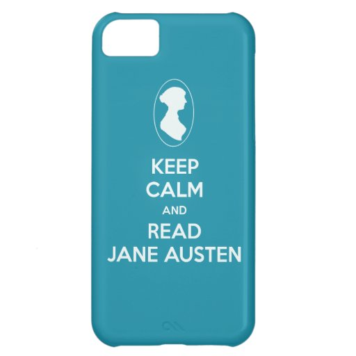 Keep Calm and Read Jane Austen cameo silhouette iPhone 5C Covers