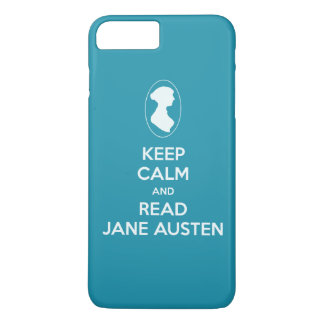 Keep Calm and Read Jane Austen cameo silhouette iPhone 7 Plus Case