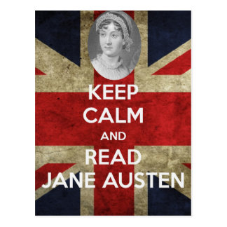 Keep Calm and Read Jane Austen Postcard