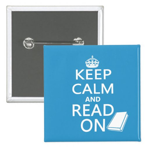 Keep Calm and Read On Buttons