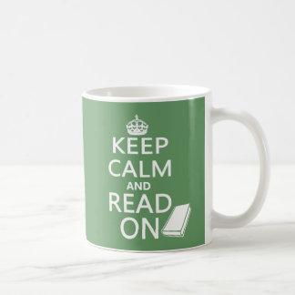 Keep Calm and Read On Basic White Mug