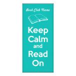 Keep Calm and Read On Book Mark Custom Rack Card
