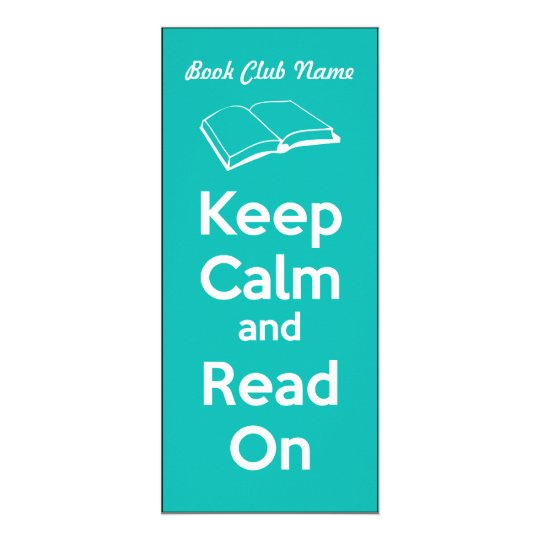 Keep Calm and Read On Book Mark Custom