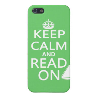 Keep Calm and Read On iPhone 5/5S Cases