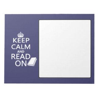 Keep Calm and Read On Notepad
