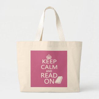 Keep Calm and Read On Bag