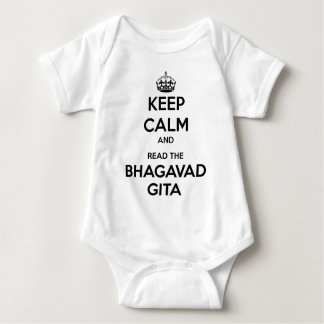 Keep Calm and Read the Bhagavad Gita Baby Bodysuit