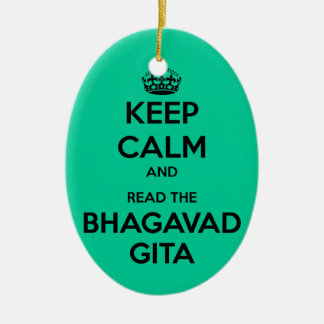 Keep Calm and Read the Bhagavad Gita Christmas Ornament