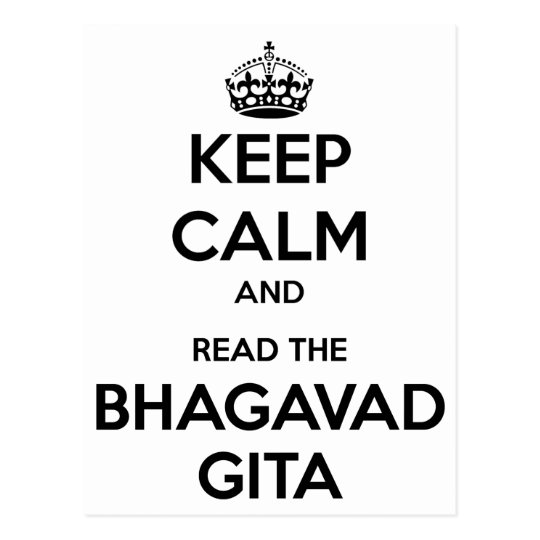 Keep Calm and Read the Bhagavad Gita Postcard