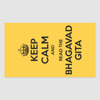 Keep Calm and Read the Bhagavad Gita Rectangular Sticker