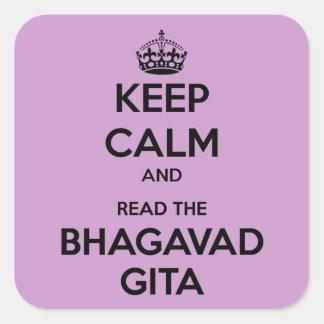 Keep Calm and Read the Bhagavad Gita Square Sticker