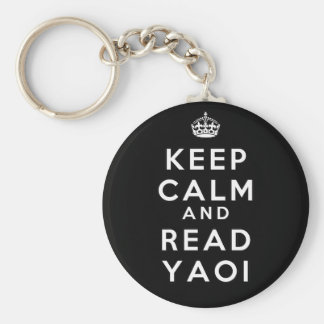 Keep Calm and Read Yaoi Basic Round Button Key Ring