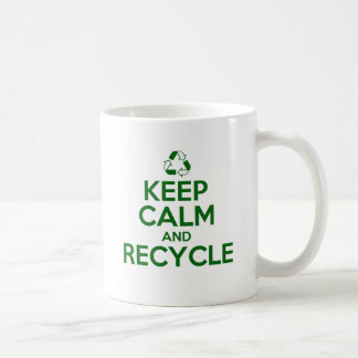 KEEP CALM AND RECYCLE COFFEE MUG