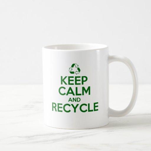 KEEP CALM AND RECYCLE COFFEE MUG