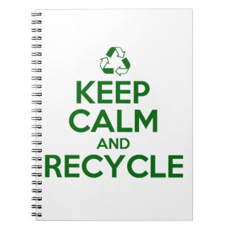 KEEP CALM AND RECYCLE NOTEBOOK