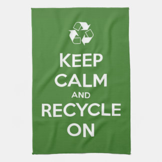 Keep Calm and Recycle On Tea Towel