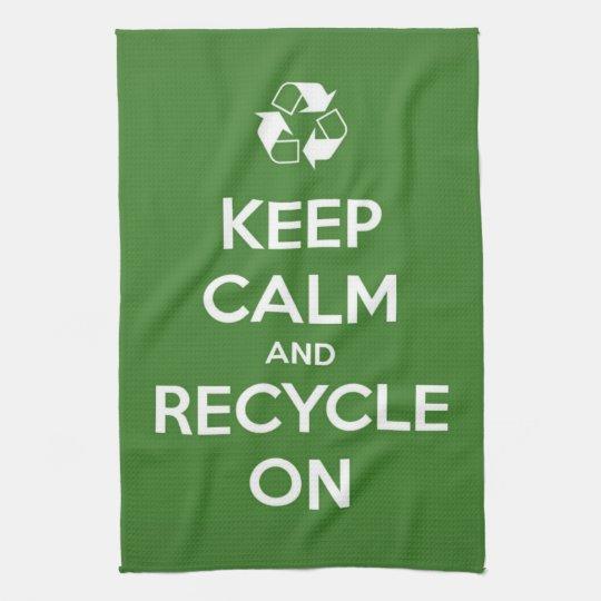 Keep Calm and Recycle On Tea Towel