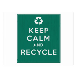 Keep Calm and Recycle Post Cards