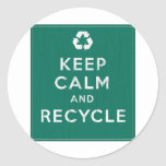 Keep Calm and Recycle Stickers