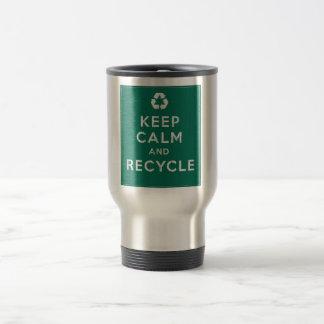 Keep Calm and Recycle Travel Mug