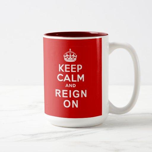 Keep Calm and Reign On Diamond Jubilee Gifts Coffee Mugs