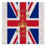 Keep calm and reign on poster