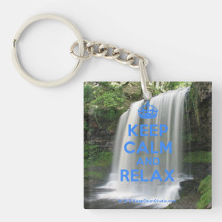 Keep Calm and Relax Key Ring