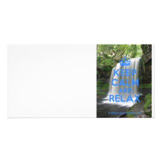 Keep Calm and Relax Personalised Photo Card
