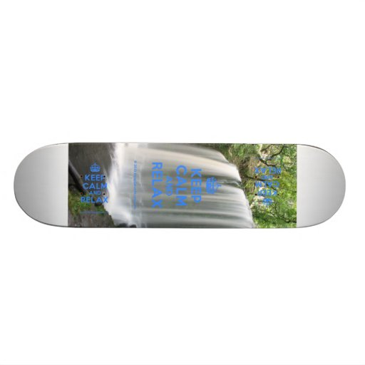 Keep Calm and Relax Skate Boards