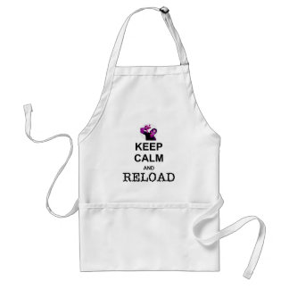 KEEP CALM AND RELOAD APRONS