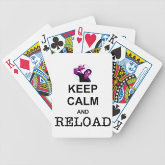 KEEP CALM AND RELOAD BICYCLE POKER DECK